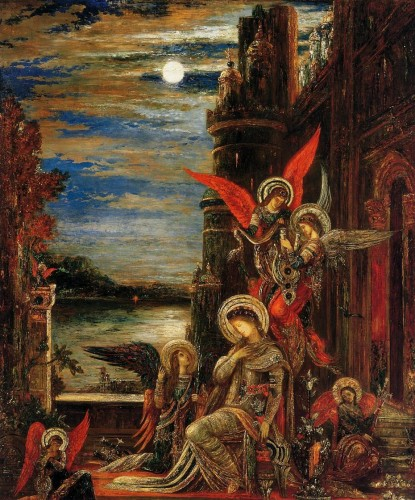 Gustave Moreau - Saint Cecilia - Angels Announcing Her Impending Martyrdom.jpg